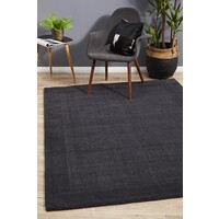 Cut and Loop Pile Flooring Rug Area Carpet Charcoal 320x230cm