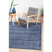 Rug Culture Luxe Modern Distressed Flooring Rugs Area Carpet Navy 225x155cm