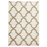 Cross Hatch Modern Flooring Rug Area Carpet Natural 170x120cm