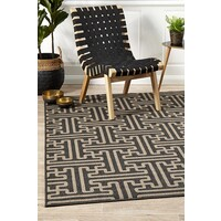 Rug Culture Seville Geo Charcoal Oudoor Flooring Rugs Area Carpet 320X230cm