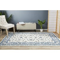 Rug Culture Classic Flooring Rugs Area Carpet White with White Border 170x120cm