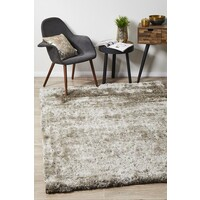 Rug Culture Twilight Shag Flooring Rugs Area Carpet - Stone 165x115cm