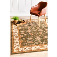 Rug Culture Stunning Formal Floral Design Flooring Rugs Area Carpet Green 290x200cm
