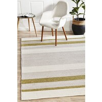 Rug Culture Norse Flatweave Flooring Rugs Area Carpet Green 320X230cm