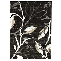 Rug Culture Designer Branch pattern Flooring Rugs Area Carpet Charcoal 170x120cm