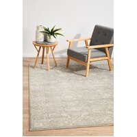 Shine Silver Transitional Flooring Rug Area Carpet 330x240cm