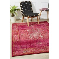 Rug Culture Overdyed Classic Style Flooring Rugs Area Carpet Red 230x160cm
