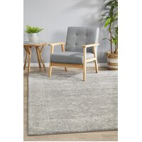 Pidgeon Grey Transitional Flooring Rug Area Carpet 230x160cm