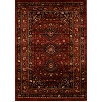 Traditional Shiraz Design Runner Burgundy Red 400x80cm