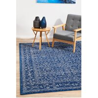 Rug Culture Artist Navy Transitional Flooring Rugs Area Carpet 400x300cm