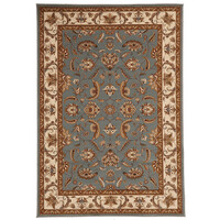 Rug Culture Stunning Formal Floral Design Runner Blue 400x80cm