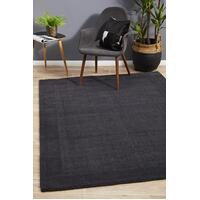 Cut and Loop Pile Flooring Rug Area Carpet Charcoal 280x190cm
