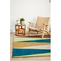 Rug Culture Cascade Modern Flooring Rugs Area Carpet Blue Green Brown 320x230cm