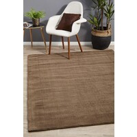 Rug Culture Cut and Loop Pile Flooring Rugs Area Carpet Taupe 280x190cm