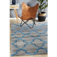 Rug Culture Cross Hatch Modern Runner Grey 400X80cm