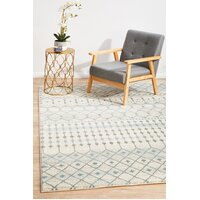 Rug Culture Slate White Transitional Runner 300x80cm