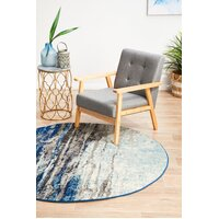 Rug Culture Transpose Blue Transitional Flooring Rugs Area Carpet 150x150cm
