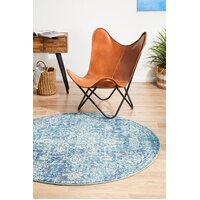 Rug Culture Muse Blue Transitional Flooring Rugs Area Carpet 240x240cm