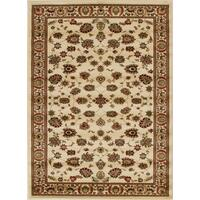 Rug Culture Traditional Floral Pattern Flooring Rugs Area Carpet Ivory 170x120cm