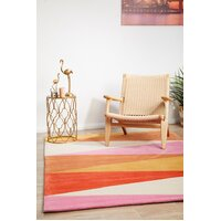 Rug Culture Cascade Modern Flooring Rugs Area Carpet Rust Pink 320x230cm