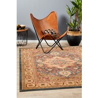 Antique Heriz Design Flooring Rug Area Carpet Multi 290x200cm