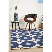 Rug Culture Navy and Yellow Nest Flooring Rugs Area Carpet 320x230cm