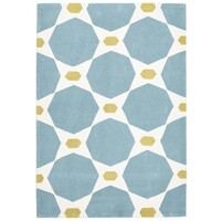Blue and Yellow Hive Flooring Rug Area Carpet 165x115cm