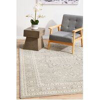 Silver Flower Transitional Flooring Rug Area Carpet 230x160cm