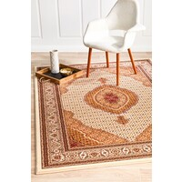 Rug Culture Stunning Formal Oriental Design Flooring Rugs Area Carpet Cream 400x300cm