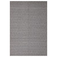 Modern Flatweave Diamond Design Black Flooring Rug Area Carpet 320x230cm