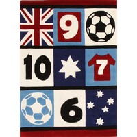 Awesome Soccer, Southern Cross Flooring Rug Area Carpet Blue 280x190cm