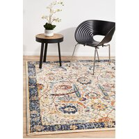 Peacock Ivory Transitional Flooring Rug Area Carpet 330x240cm