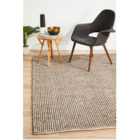 Rug Culture Carlos Felted Wool Flooring Rugs Area Carpet Brown Natural 280x190cm