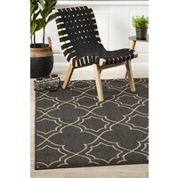 Rug Culture Casablanca Charcoal Outdoor Flooring Rugs Area Carpet 320X230cm