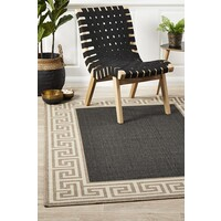 Rug Culture Adonis Charcoal Outdoor Flooring Rugs Area Carpet 160X110cm
