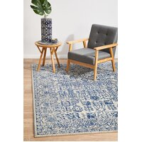 Rug Culture Frost Blue Transitional Flooring Rugs Area Carpet 290x200cm