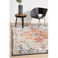 Rug Culture Carnival White Transitional Runner 500x80cm