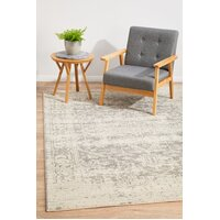 Dream White Silver Transitional Flooring Rug Area Carpet 230x160cm