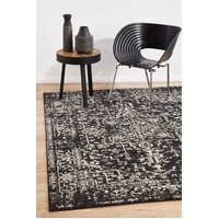 Rug Culture Scape Charcoal Transitional Runner 400x80cm