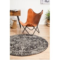 Rug Culture Scape Charcoal Transitional Flooring Rugs Area Carpet 150x150cm