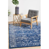 Rug Culture Oasis Navy Transitional Flooring Rugs Area Carpet 330x240cm