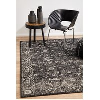 Rug Culture Estella Charcoal Transitional Runner 400x80cm