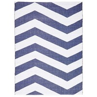 Rug Culture Coastal Indoor Out door Flooring Rugs Area Carpet Chevron Navy White 220x150cm