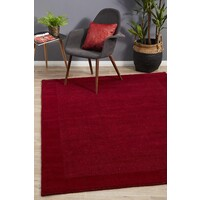 Rug Culture Cut and Loop Pile Flooring Rugs Area Carpet Red 225x155cm