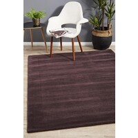 Cut and Loop Pile Flooring Rug Area Carpet Purple 165x115cm