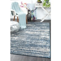 Rug Culture Doris Modern Floor Area Rugs Blue Cream  CHL-6844-GRY-220X150cm