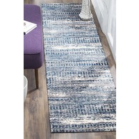 Rug Culture Doris Modern Runner Rugs Blue Cream CHL-6844-GRY-400X80cm