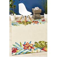 Rug Culture Anna Floral Indoor Outdoor Floor Area Rugs Cream  COP-590-WHI-225X155cm