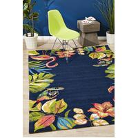 Rug Culture Tropical Garden Stunning Indoor Outdoor Floor Area Rugs COP-591-NVY-280X190cm