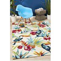 Rug Culture Toucan Tropical Indoor Outdoor Floor Area Rugs Cream  COP-595-IVO-280X190cm